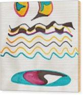 Egyptian Design Wood Print