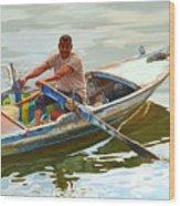 Egyptian Fisherman Wood Print