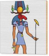 Egyptian God - Khensu Wood Print
