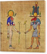 Egyptian Gods And Goddness Wood Print