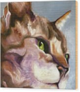 Egyptian Mau Princess Wood Print