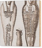Egyptian Mummy, Illustration Wood Print