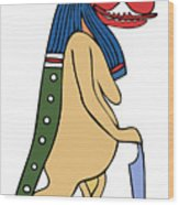 Egyptian Mythical Creature Wood Print
