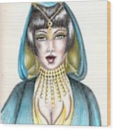 Egyptian Princess Wood Print by Scarlett Royal