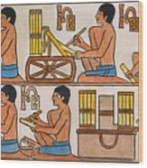 Egyptian Scribes Wood Print