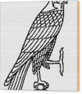 Egyptian Symbol: Falcon Wood Print