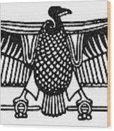 Egyptian Symbol: Vulture Wood Print