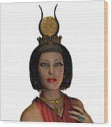Egyptian Woman Crown Wood Print