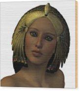 Egyptian Woman Face Wood Print