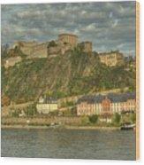 Ehrenbreitstein Fortress On The Rhine Wood Print