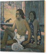 Eiaha Ohipa Or Tahitians In A Room Wood Print