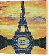 Eifel Tower In Paris Wood Print