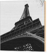 Eiffel from an Angle Wood Print