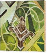 Eiffel Tower And Jardin Du Champ De Mars Wood Print