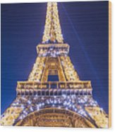 Eiffel Tower At Dusk. Wood Print