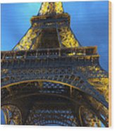 Eiffel Tower At Night. Paris Wood Print