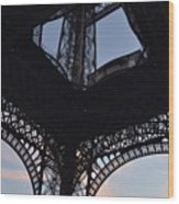 Eiffel Tower Corner Wood Print