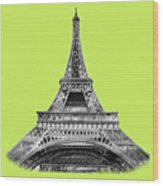 Eiffel Tower Design Wood Print