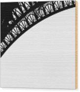 Eiffel Tower Detail Wood Print