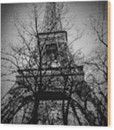 Eiffel Tower During The Winter. Wood Print