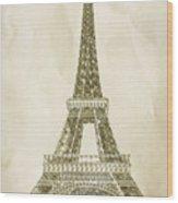 Eiffel Tower Illustration Wood Print by Paul Topp