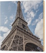 Eiffel Tower In Paris Wood Print