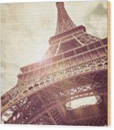 Eiffel Tower In Sunlight Wood Print