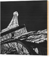 Eiffel Tower Las Vegas Wood Print