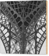 Eiffel Tower Leg Wood Print