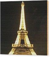 Eiffel Tower Light Wood Print