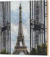 Eiffel Tower Wood Print by Melissa J Szymanski