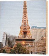 Eiffel Tower Nevada Wood Print by Andy Smy