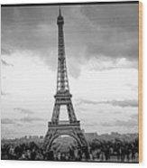 Eiffel Tower -panoramic. Wood Print