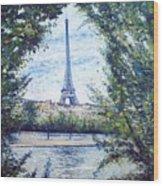 Eiffel Tower Paris France 2001   Wood Print