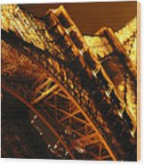 Eiffel Tower Paris France Wood Print
