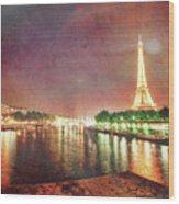 Eiffel Tower Reflections Wood Print