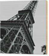 Eiffel Tower Slightly Askew Wood Print