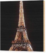 Eiffel Tower Sparkling Wood Print