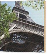 Eiffel Tower Spring Wood Print