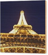 Eiffel Tower Straight Up  Wood Print