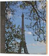 Eiffel Tower Tree Wood Print