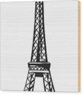 Eiffel Tower Up Wood Print