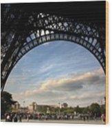 Eiffel Tower View Wood Print