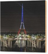 Eiffel Towers Wood Print
