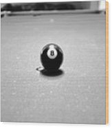 Eight Ball 3 Wood Print