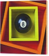 Eight Ball In Box Wood Print