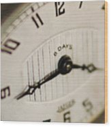 Eight Days A Week Clock Wood Print