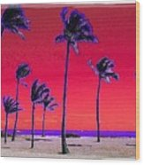 Eight Palms Wood Print