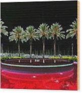 Eight Palms Drinking Wine Wood Print by David Lee Thompson