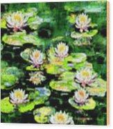 Eight #waterlilies Wood Print